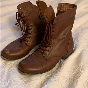 Brown hipster boots